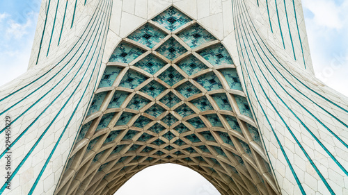 Azadi Tower in Azadi square in the Iranian capital Tehran