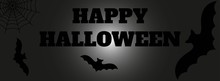 Halloween Background With Bats And Full Moon