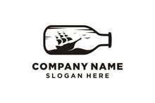 Ship With Bottle Logo Design V...