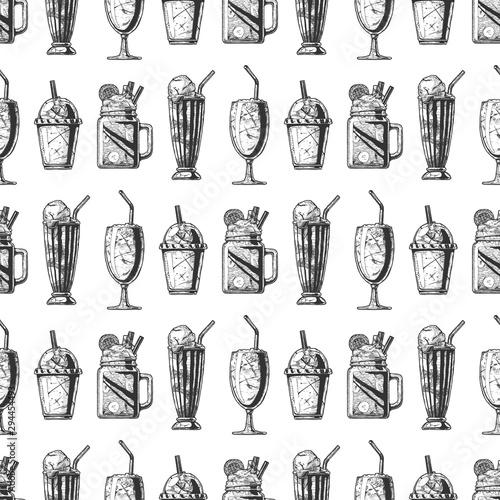 Fotografia  Pattern with milkshake