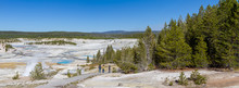 Panoramic View Of Norris Geyser Basin, Yellowstone, Wyoming