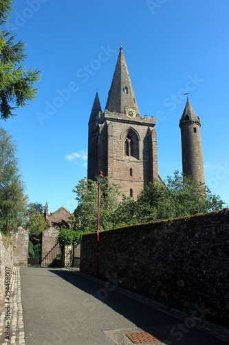 Brechin Cathedral and round tower, Angus. Canvas Print