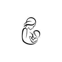 Breast Feeding Vector Sign. M...