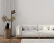 canvas print picture Ethnic style living room with white sofa
