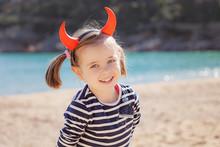 Portrait Of Girl On The Beach ...