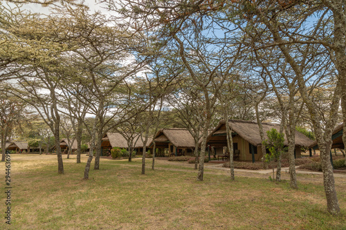 A Tented Safari Camp Among Acacia Trees, Kenya, Africa