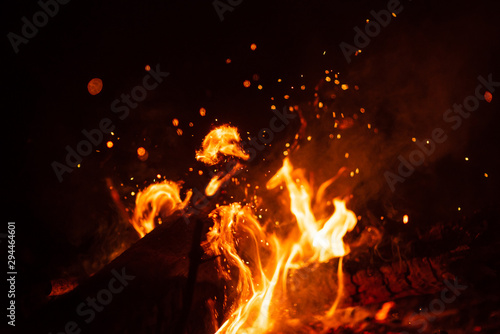Beautiful abstract background on the theme of fire, light and life Wallpaper Mural