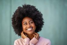 Beautiful Young Black Woman Sm...