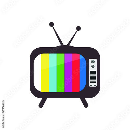 Old Television, retro style Vector Design. Isolated drawing.