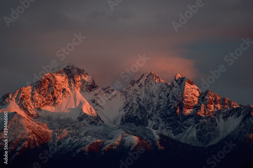 Alaska mountain alpenglow Wallpaper Mural