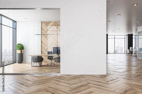 Obraz Contemporary office interior with empty copyspace - fototapety do salonu