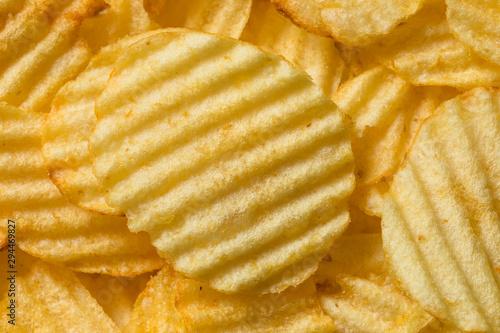 Fotomural  Organic Salted Wavy Potato Chips