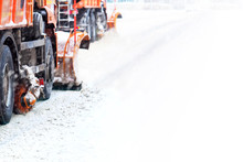 Snow Removal In Winter. Snow P...