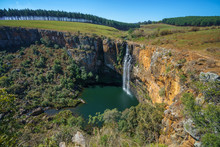 Beautiful Waterfall Berlin Falls, Panorama Route, Mpumalanga, South Africa 2