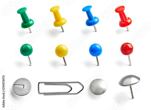 Cuadros en Lienzo  push pin paper clip thumbtack note office