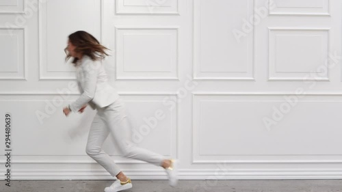 Businesswoman Running Late