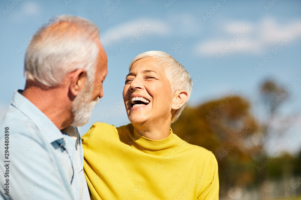 Fototapeta senior couple happy elderly love together
