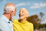 Fototapeta Łazienka - senior couple happy elderly love together
