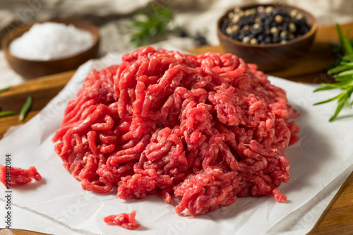 Fotomural Raw Organic Red Ground Minced Beef
