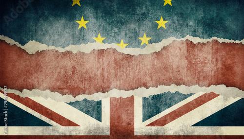 Obraz Brexit Konzept - Großbritannien  verlässt die Europäische Union - fototapety do salonu