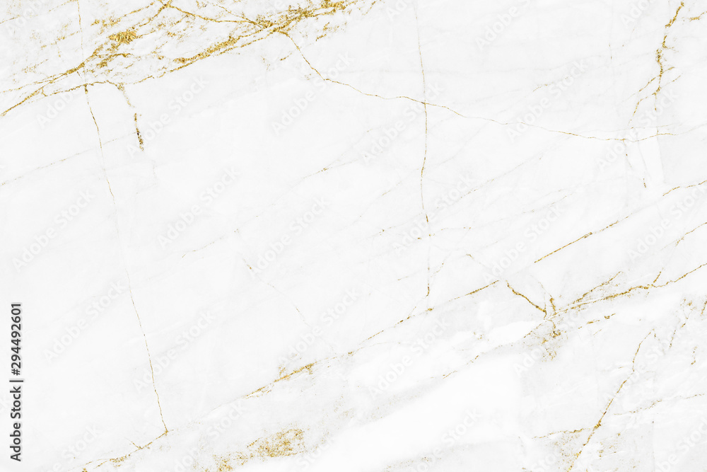 Fototapeta White gold marble texture pattern background with high resolution design for cover book or brochure, poster, wallpaper background or realistic business