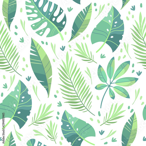 vector-illustration-flat-design-tropical-leaf-pattern