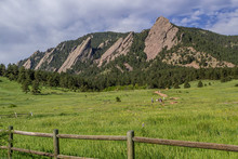 Flat Irons Hiking Trail In Boulder Colorado