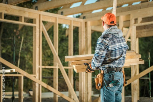 Carpenter with Wood Elements