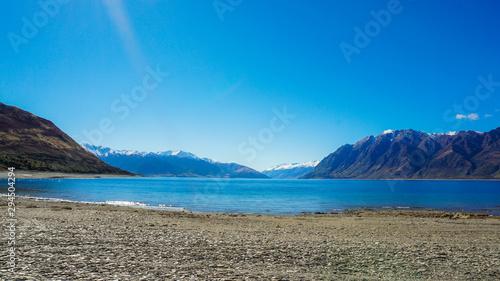 Photo  Lake hawea peak Wanaka New Zealand