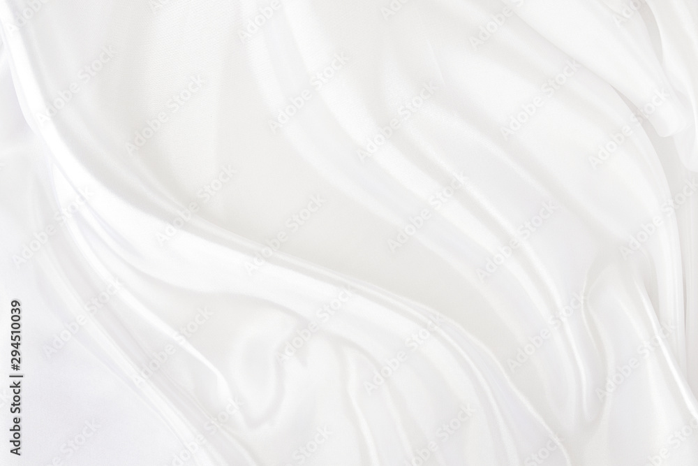 Fototapety, obrazy: White fabric texture that is white silk background with beautiful soft blur pattern.