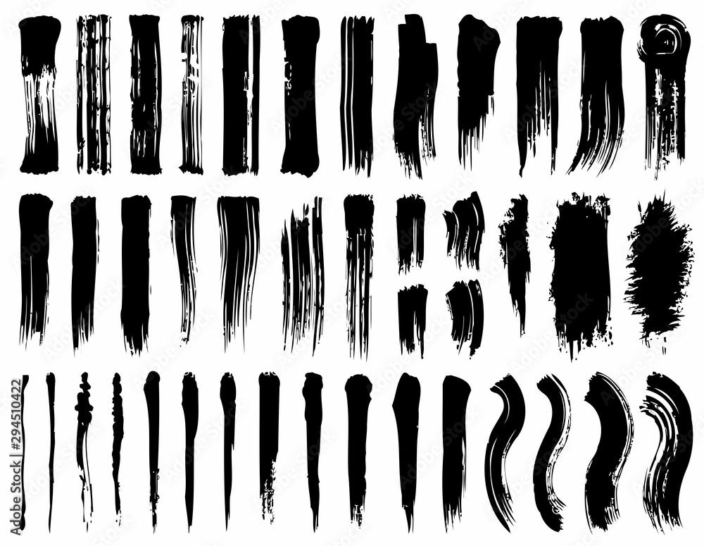 Fototapeta set of silhouettes photoshop brushes