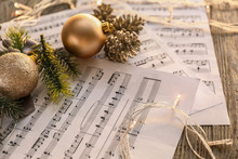 Christmas Composition With Mus...