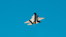 The F-35 Starting Into Vertical Flight Using After Burners