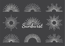 Vintage Sunburst With Radial S...