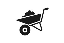 Wheelbarrow Icon Vector Design...