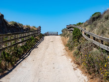 Road At Bechers Bay Pier On A Sunny Spring Day, Santa Rosa Island, Channel Islands National Park, Ventura, California, USA