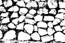 Stones Wall Background. Black ...