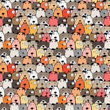 Cute Dog Seamless Pattern Background. Vector Illustration.