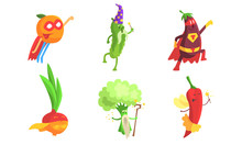 Funny Fruits And Vegetables Ch...