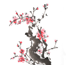 Chinese Painting Of Flowers, P...