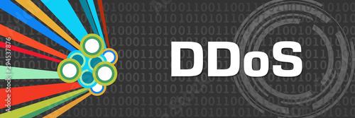 Fototapety, obrazy: DDoS Dark Colorful Element Binary Horizontal