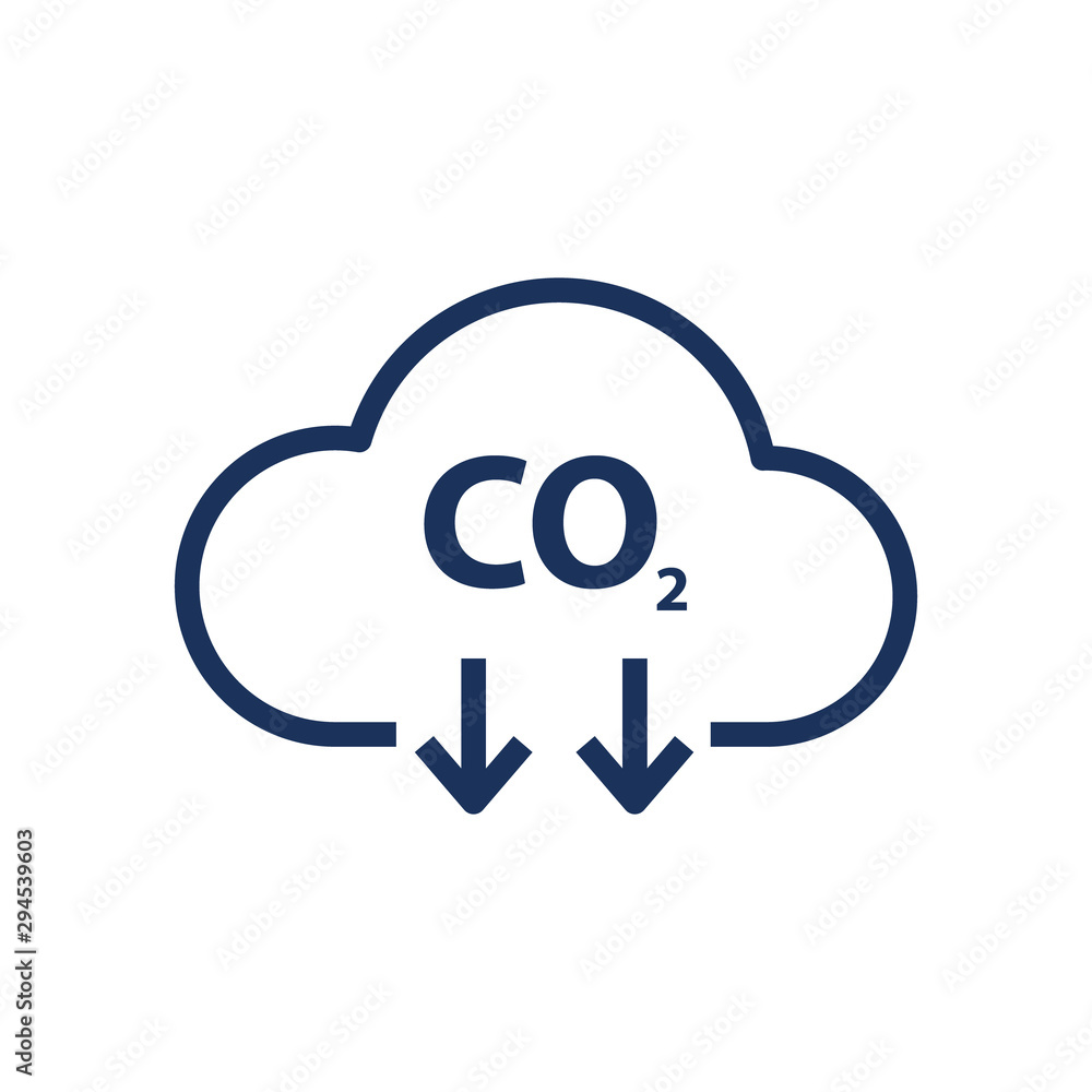 Fototapeta co2 emissions vector icon
