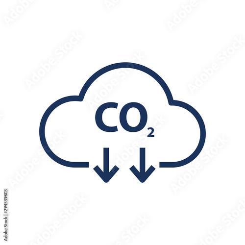 Fotografie, Obraz co2 emissions vector icon