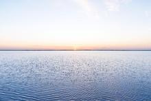 Pink Sunset On Lake Beach Beautiful Colors In Sky Clouds , Lake Malawi, Malawi, Africa
