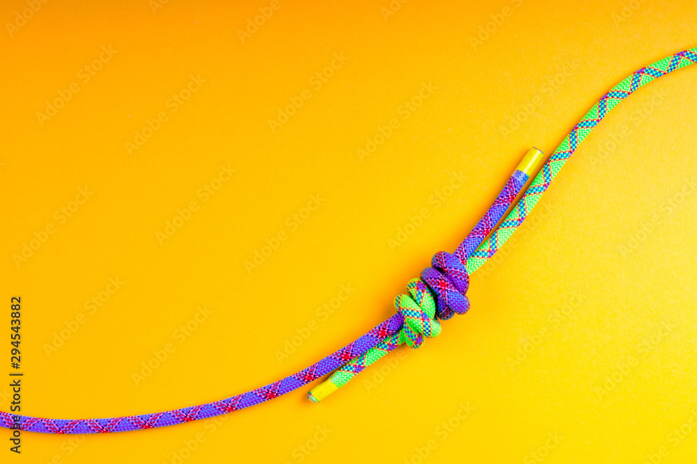 Fototapety, obrazy: Rope and knot on  background.