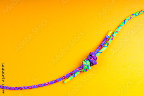 Rope and knot on  background. Wallpaper Mural