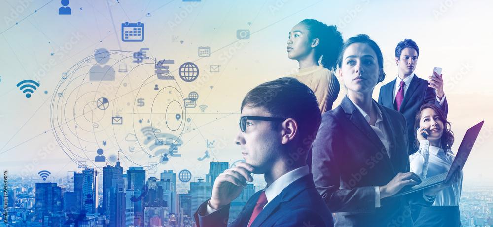 Fototapeta グローバルビジネス IoT 5G