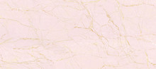 Natural Marble Stone Texture Background, Pink Colored Marble With Golden Curly Veins, It Can Be Used For Interior-Exterior Home Decoration And Ceramic Tile Surface, Wallpaper.