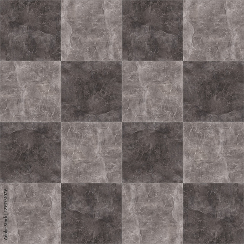 Obraz na plátně  Seamless chess marble texture for interior and exterior decoration
