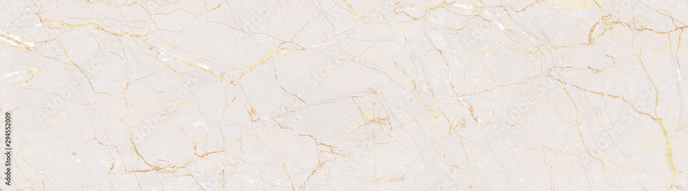 Fototapeta Natural Marble Stone Texture Background, Light Pink Colored Marble With Golden Curly Veins, It Can Be Used For Interior-Exterior Home Decoration and Ceramic Tile Surface, Wallpaper.